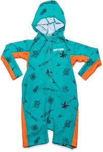Rip Curl Kids Hooded UV-Dragt, Turquoise