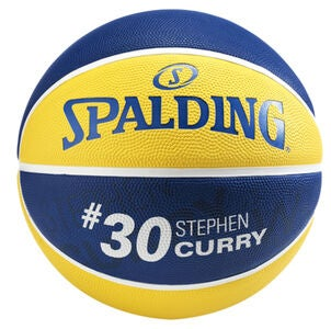 Spalding NBA Stephen Curry Basketball 7, Gul/Blå