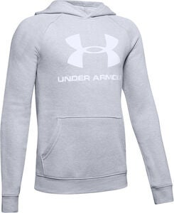 Under Armour Rival Logo Hoodie, Stealth Gray