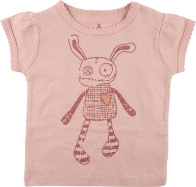 Small Rags Ella T-shirt, Misty Rose