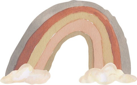 That's Mine Wallsticker Rainbow Large, Grey Tones