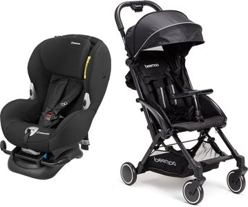 Maxi-Cosi Mobi XP, Night Black Rejsepakke Beemoo Easy Fly Klapvogn, Black
