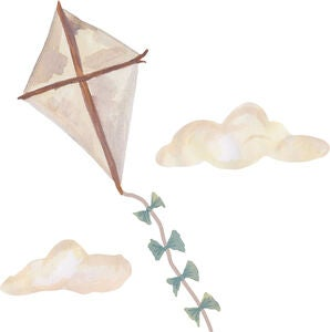 That's Mine Wallsticker Kite Large, Beige