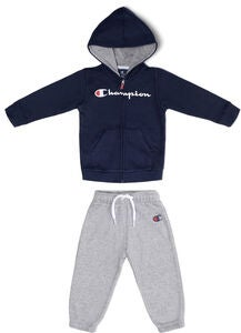 Champion Kids Hooded Joggingsæt, Black Iris