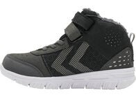 Hummel Crosslite Winter Mid Tex Jr Sneakers, Asphalt/Black
