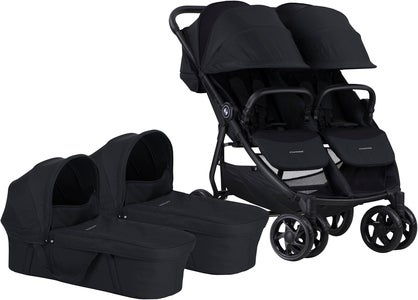 Crescent Duo Lightway Tvillingevogn, Black