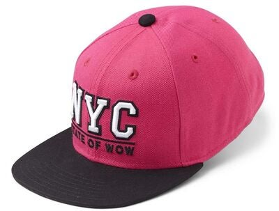 State Of Wow Toronto 2 Youth Snapback Kasket, DK Pink/Black