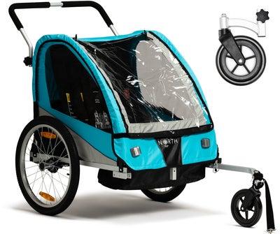 North 13.5 Roadster Cykelanhænger Inkl. Strollerhjul, Blue | bike_trailers_component