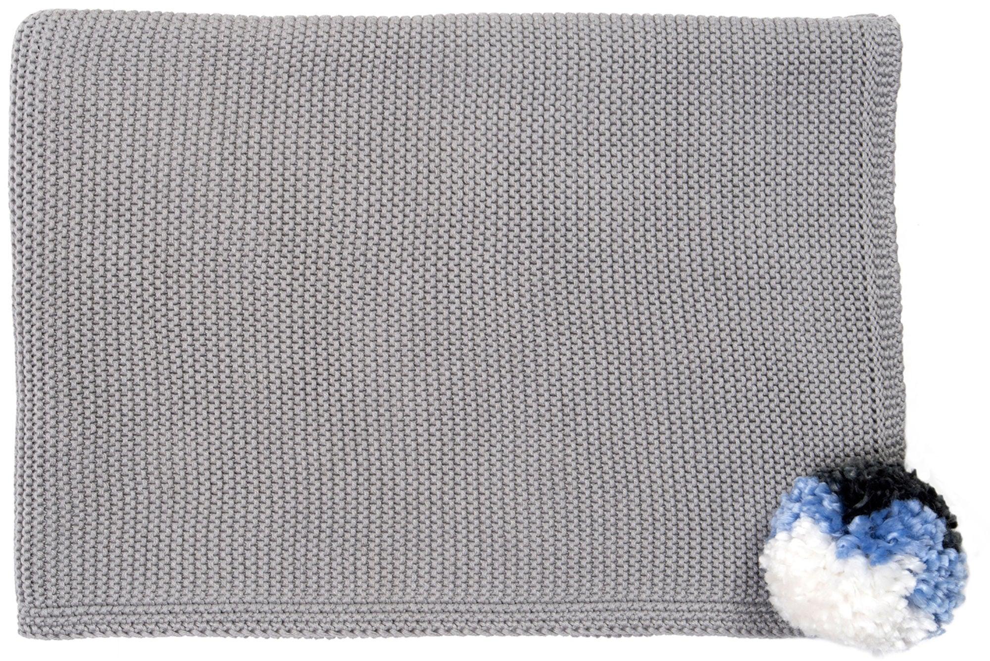 Mimilou Babytæppe Grey Pompom