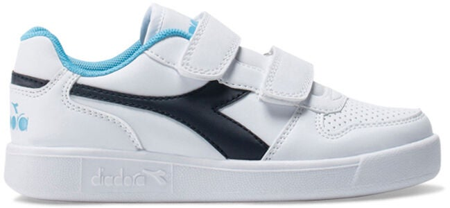 Diadora Playground PS Sneakers, White/Blue Denim
