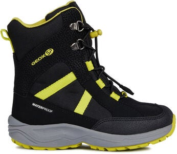 Geox New Alaska WPF Vinterstøvler, Black/Lime