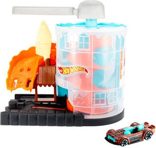 Hot Wheels City Legesæt Downtown Ice Cream Meltdown
