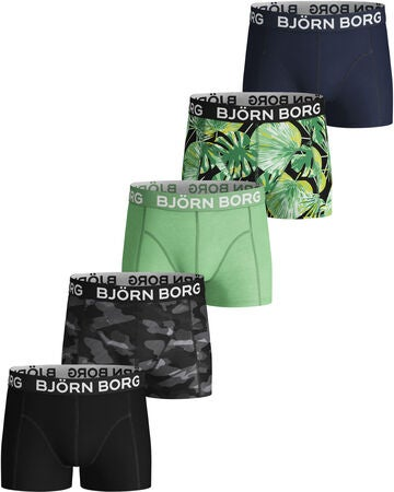 Björn Borg Shadeline And Garden Boksershorts 5-pak, Black Beauty