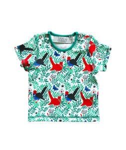 Anïve for the minors Bird Mail T-Shirt, Multi