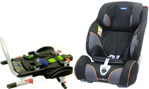 Klippan Triofix Recline Comfort Autostol & Base ISOfix, Black/Orange