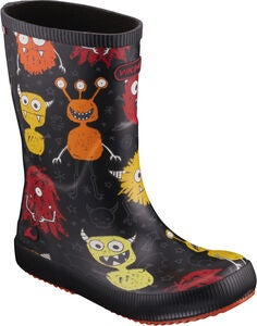 Viking Classic Indie Monsters Gummistøvler, Black/Orange