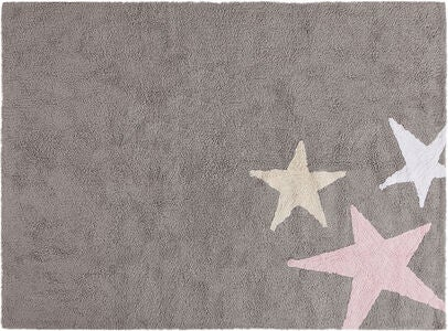 Lorena Canals Tæppe Stars, Grey/Pink