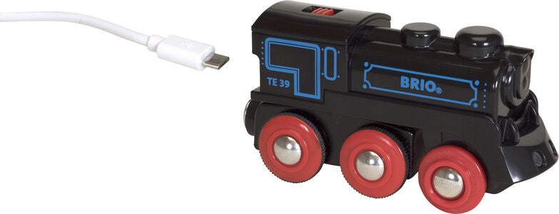 BRIO World 33599 Genopladeligt Lokomotiv Med Mini USB-Kabel