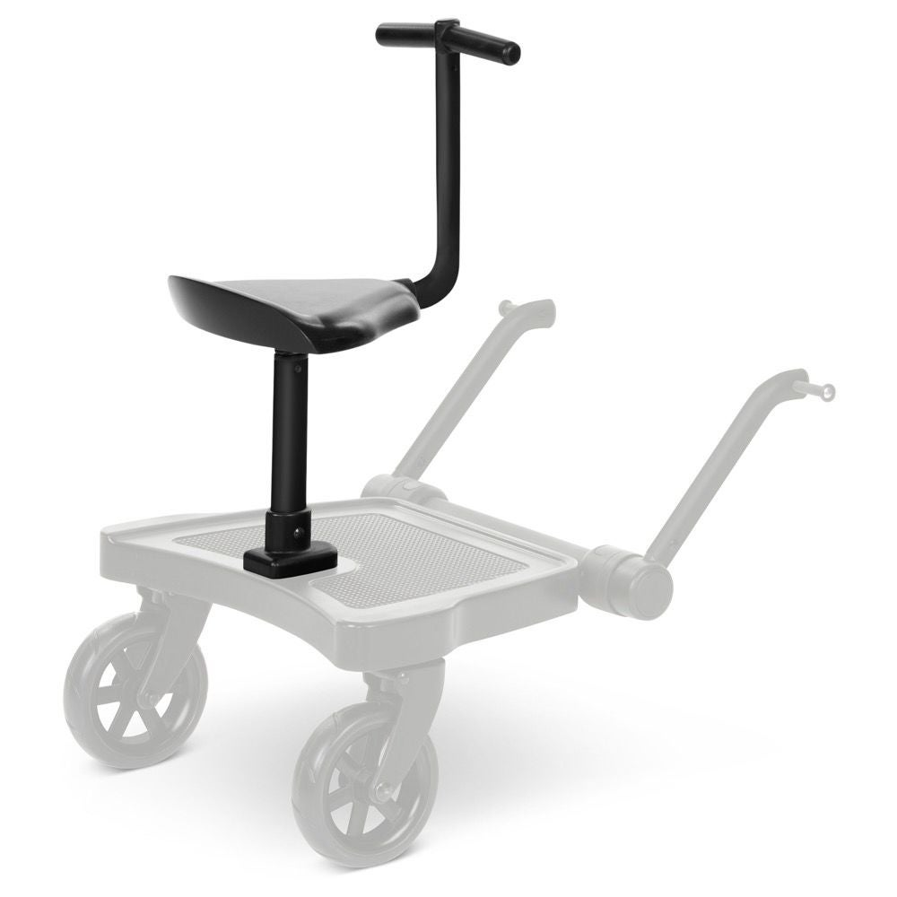 ABC Design Kiddie Ride On 2 Sæde til Ståbræt, Black