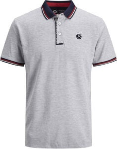 Jack & Jones Challenge Poloshirt, Light Grey Melange