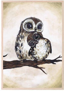 That's Mine Poster Love Owls 30x40