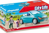 Playmobil 70285 Far Og Barn Med En Cabriolet