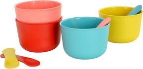 Ekobo Bambino Ice Cream Set Retro, Coral/Lagoon/Lemon/Tomato