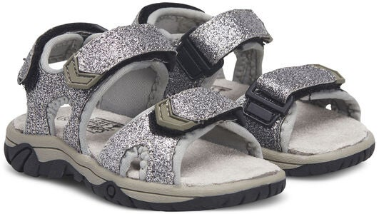 Little Champs Race Glitter Sandaler Silver