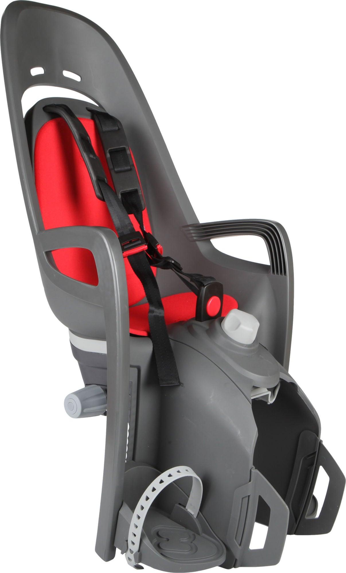 Hamax Zenith Relax Cykelstol inkl. Bagagebærer-adapter , Grå/Rød | Bike seat