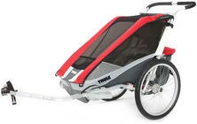 Thule Chariot Cougar 2 Red inkl. Cykel-kit