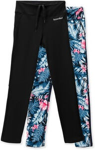 Hyperfied Track Tights 2-pak, Black/Tropical Flower