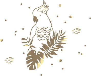 Mimilou Wallsticker Golden Parrot