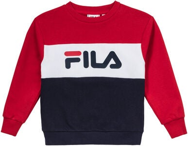 FILA Kids Night Blocked Crew Trøje, Black Iris