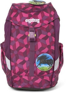 Ergobag Mini NightcrawlBear Rygsæk 10L, Flower Wheel Purple
