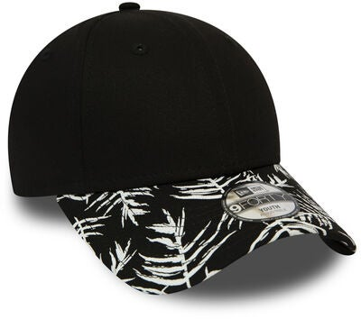 New Era Palm Print 9FORTY KIDS NE Kasket, Black