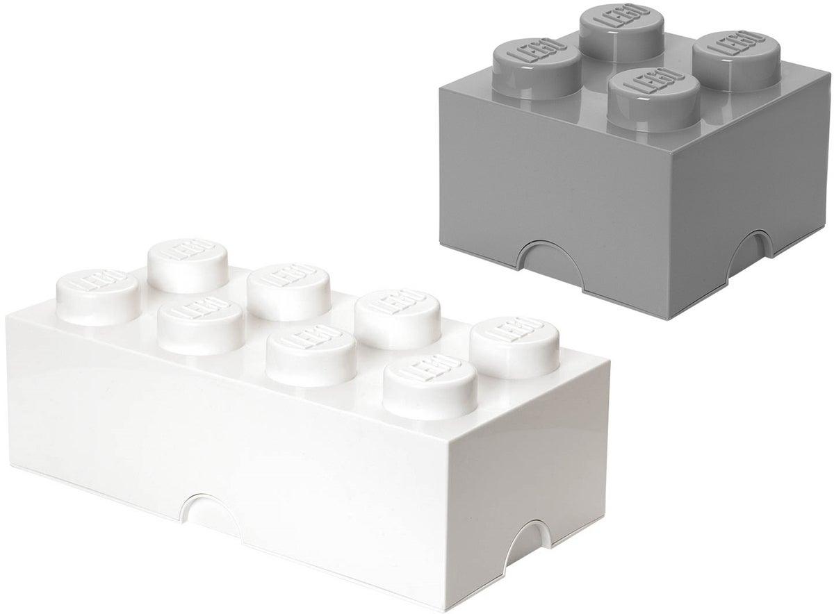 Picture of: Kob Lego Opbevaring Hvid Gra Jollyroom