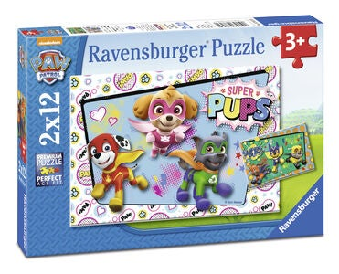 Ravensburger Puslespil Paw Patrol Super Pups In Action 2x12 Dele