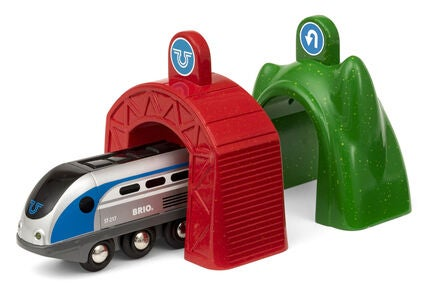 BRIO World 33834 Smart Tech Lokomotiv m. Action-Tunneler