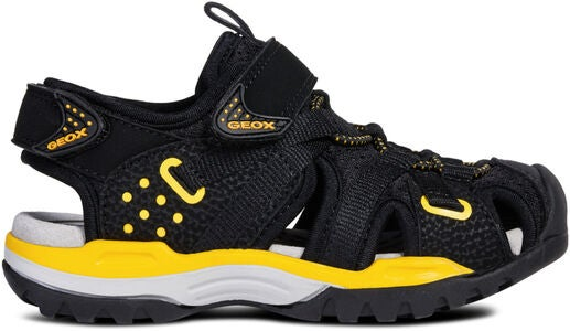 Geox Borealis Sandaler, Black/Yellow