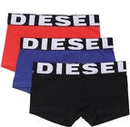 Diesel UMBX Shawn Boksershorts 3-Pack, Black/Bluette/Red