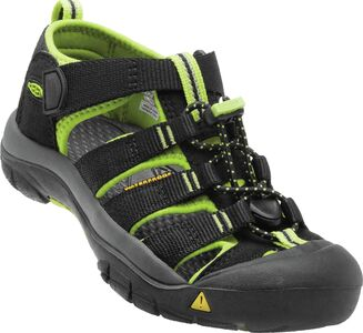 KEEN Newport H2 Little Kids Sandaler, Black/Lime Green