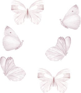 That's Mine Wallsticker Butterfly 6-pak, White