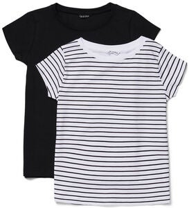 Luca & Lola Fanny Top 2-pak, Black/Stripes