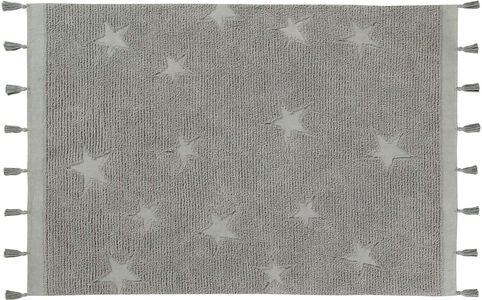 Lorena Canals Tæppe Hippy Stars, Grey