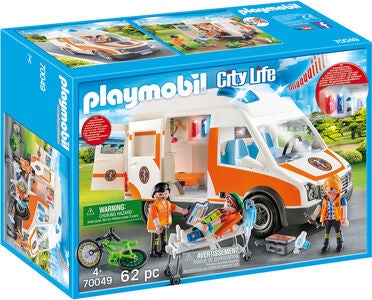 Playmobil 70049 Ambulance med blinklys