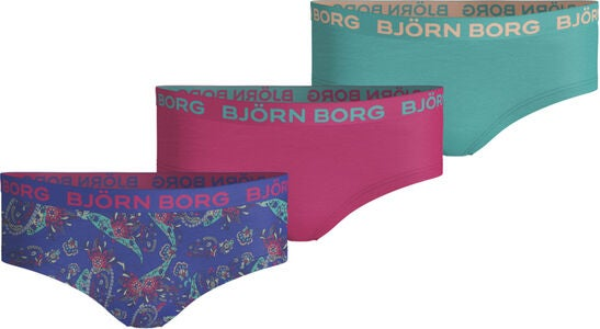 Björn Borg 3-pak Hipsters, Dazzling Blue