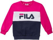 FILA Kids Night Blocked Crew Trøje, Pink