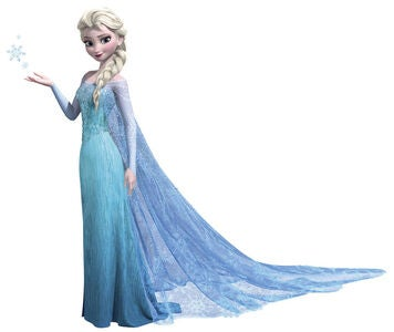 RoomMates Giant Wallsticker Disney Frozen Elsa Glitter