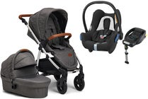 Petite Chérie Heritage 2020 Duovogn, Grey Melange/Silver m. Travelsystem Maxi Cosi