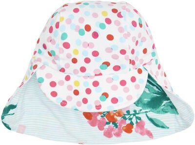 Tom Joule Vendbar Hat, Aqua Floral Stripe